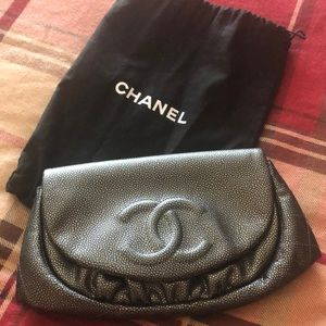 Handbags - Like new rare Chanel half moon wallet on chain
